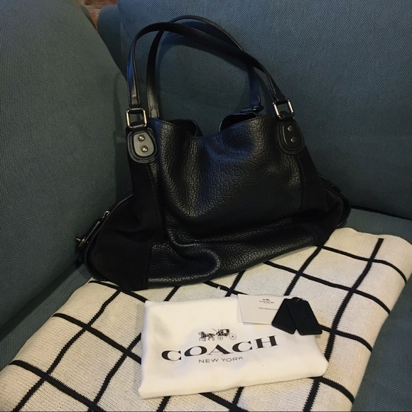 Coach Handbags - COACH Edie Shoulder Bag 42 in Black Dark Gunmetal d45ad5152c997